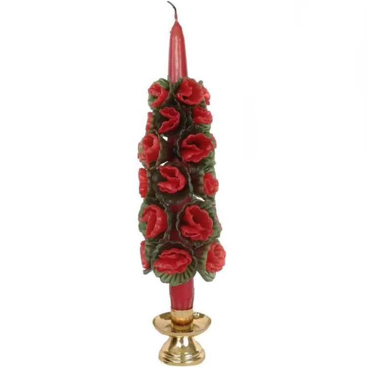 Christmas Flower Candle