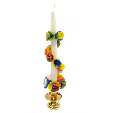 Multicolored Flower Candle