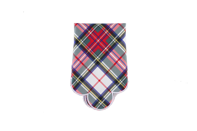 White Plaid Napkins, Set of 4 - Chefanie