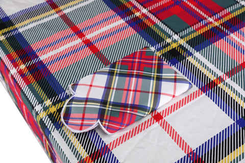 White Plaid Tablecloth - Chefanie