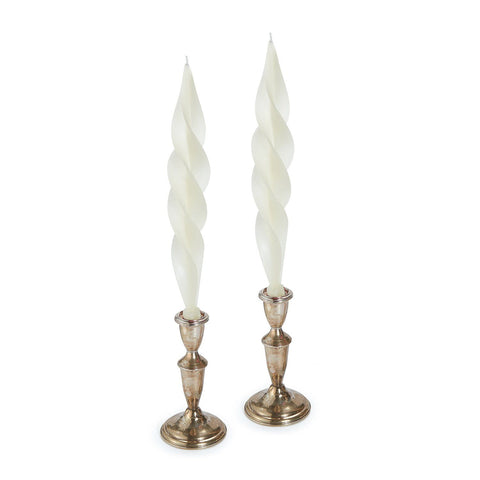 White Feather Candles (2)