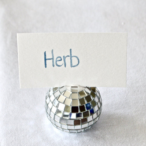 Disco Placecard Holders, Set of 4 Chefanie