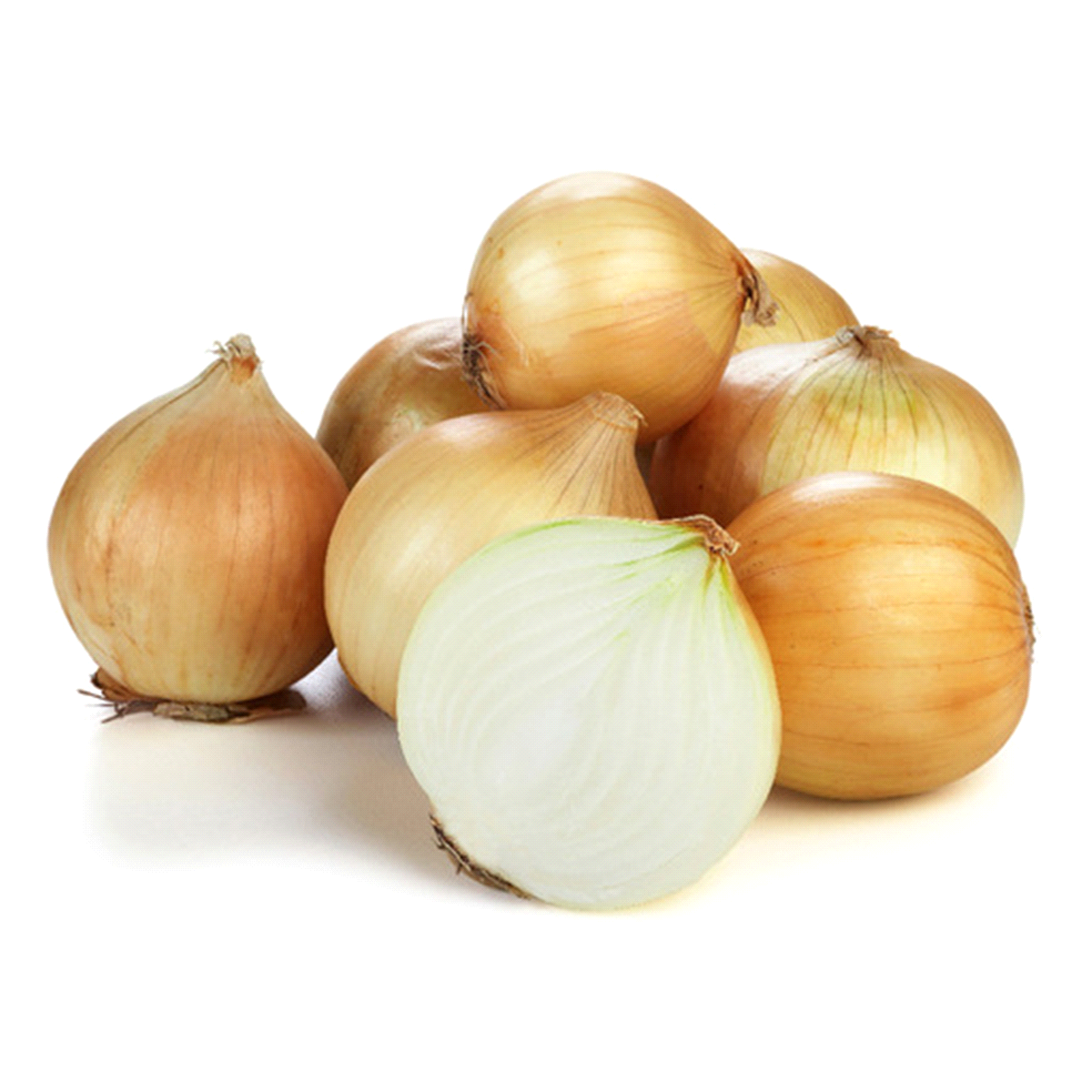 Yellow onions become sweet when sautéed.