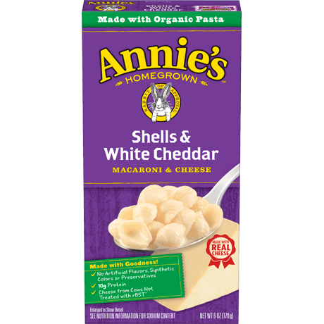 Annie's Shells and White Cheddar