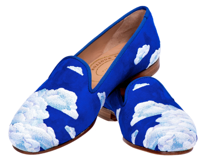 Slippers for a Cloud themed party