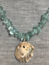 Load image into Gallery viewer, Sea glass and Shell Necklace
