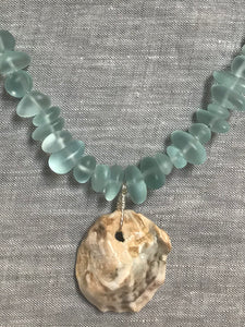 Sea glass and Shell Necklace