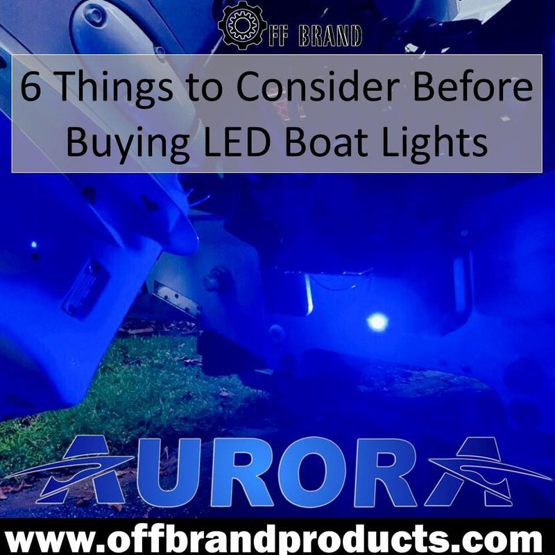 6 Things To Consider Before Buying LED Lights For Your Boats
