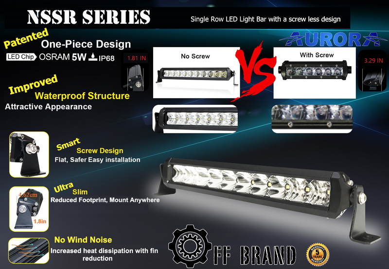 Aurora S5 NSSR Series Light Bar - Slim, Powerful and Affordable