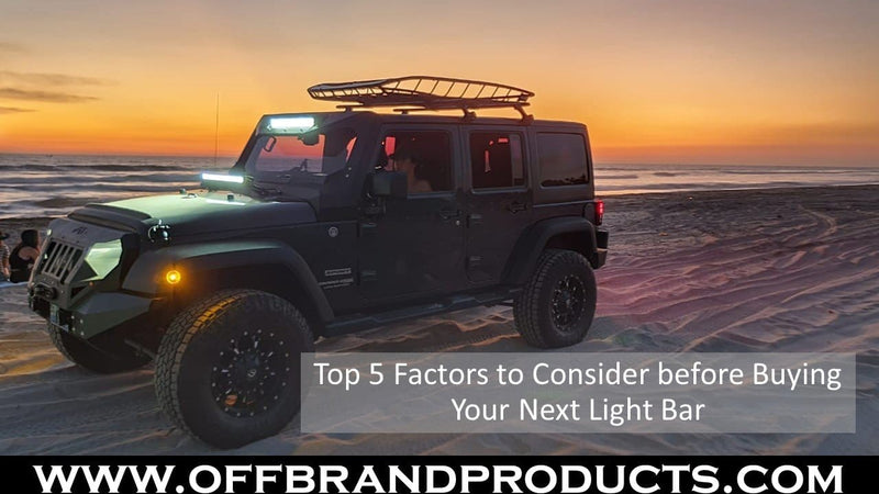 Top 5 Factors you Should Consider Before buying Your Next Light Bar