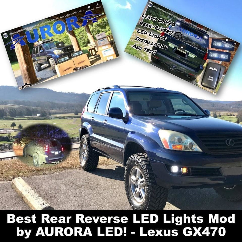 Best Rear Reverse LED Lights Mod by AURORA LED! - Lexus GX470
