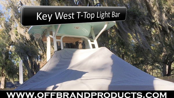 key west t-top light bar aurora boat light bar