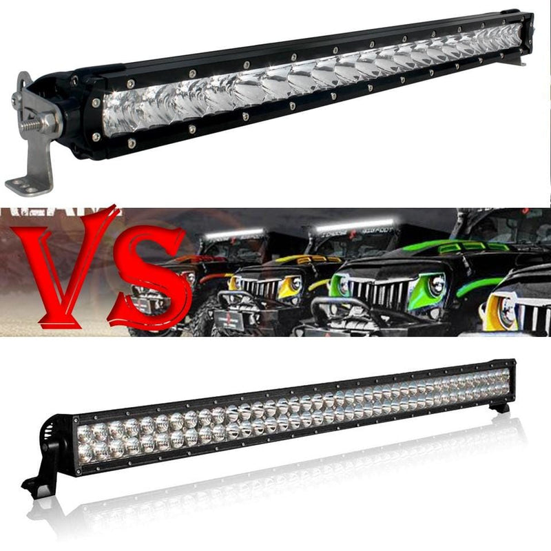 Single Row Light Bars vs Dual Row Light Bars - Which is Better!
