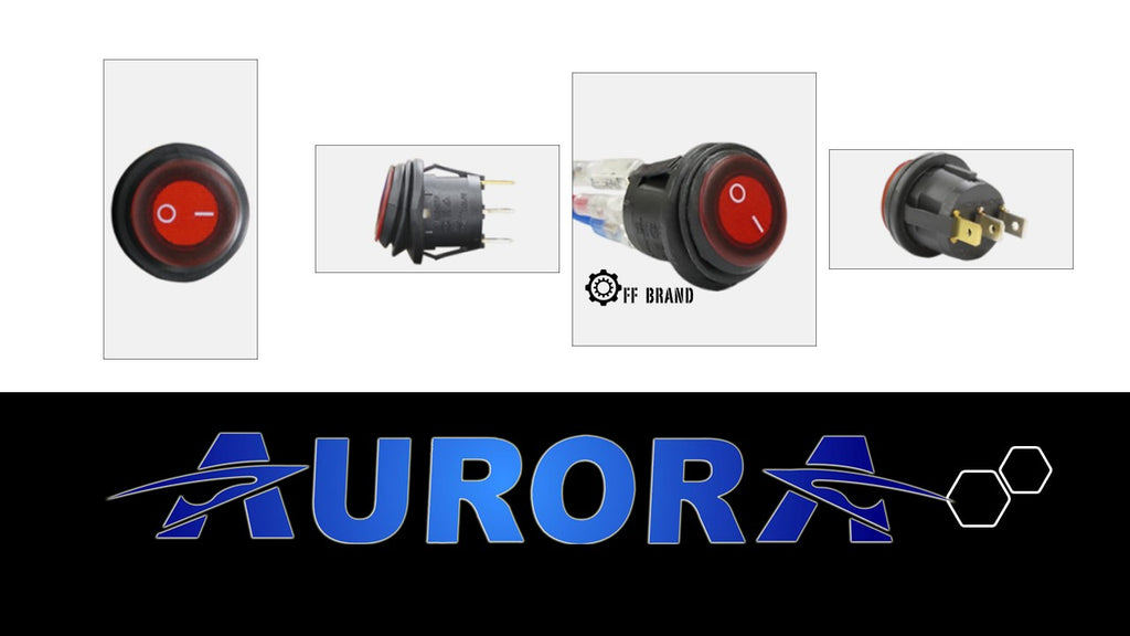 aurora 3 pin light bar switch