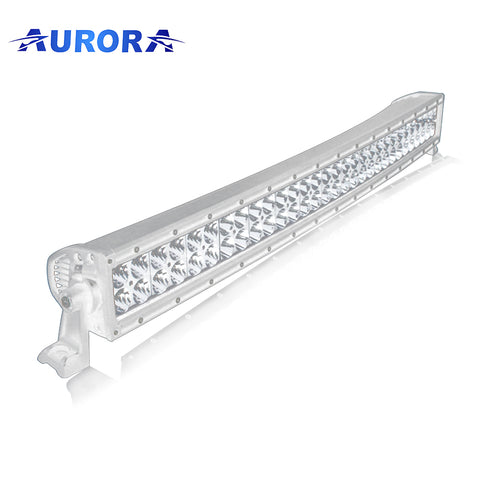 aurora 30 inch curved marine white led light bar