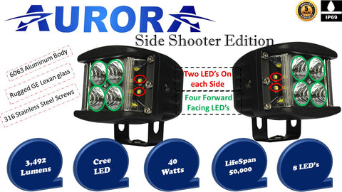 aurora side shooter led cubes