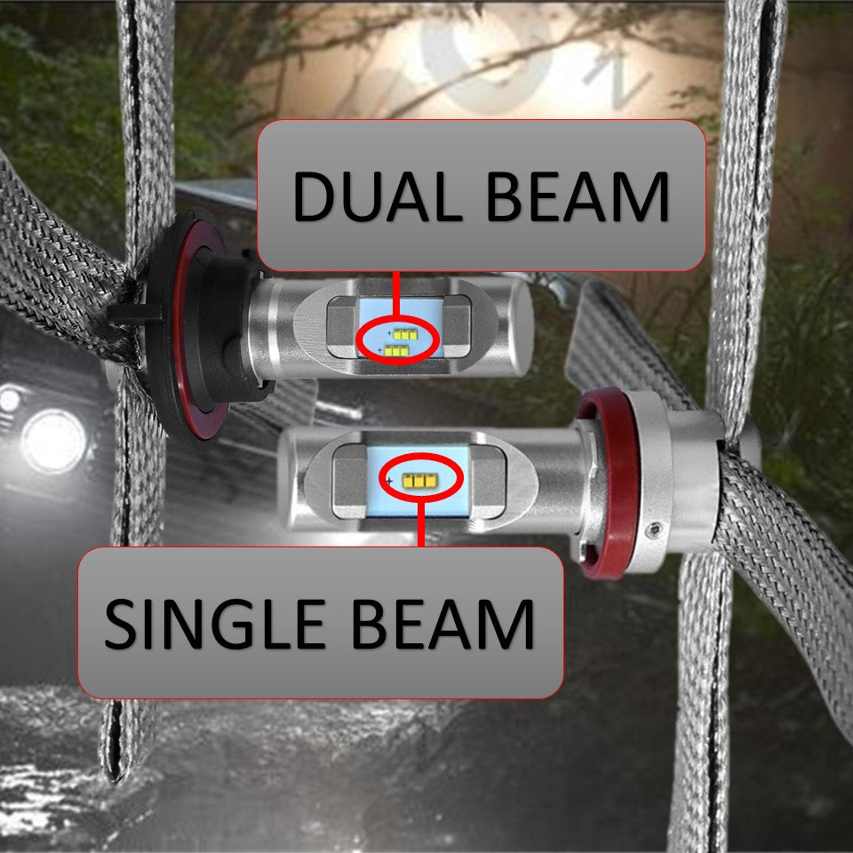 aurora dual beam led headlights - aurora single beam led headlights