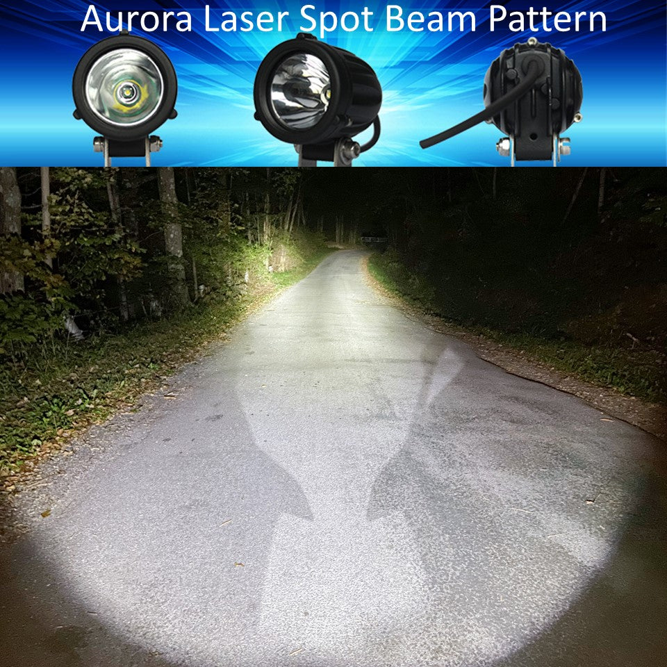 Aurora Dual Sport LED light beam Pattern - Aurora Laser