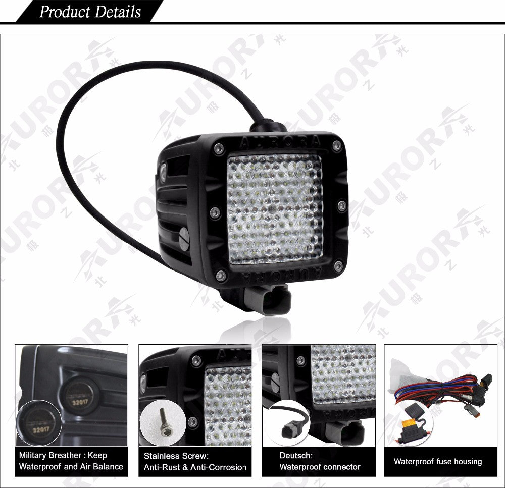 Aurora led diffusion light pod