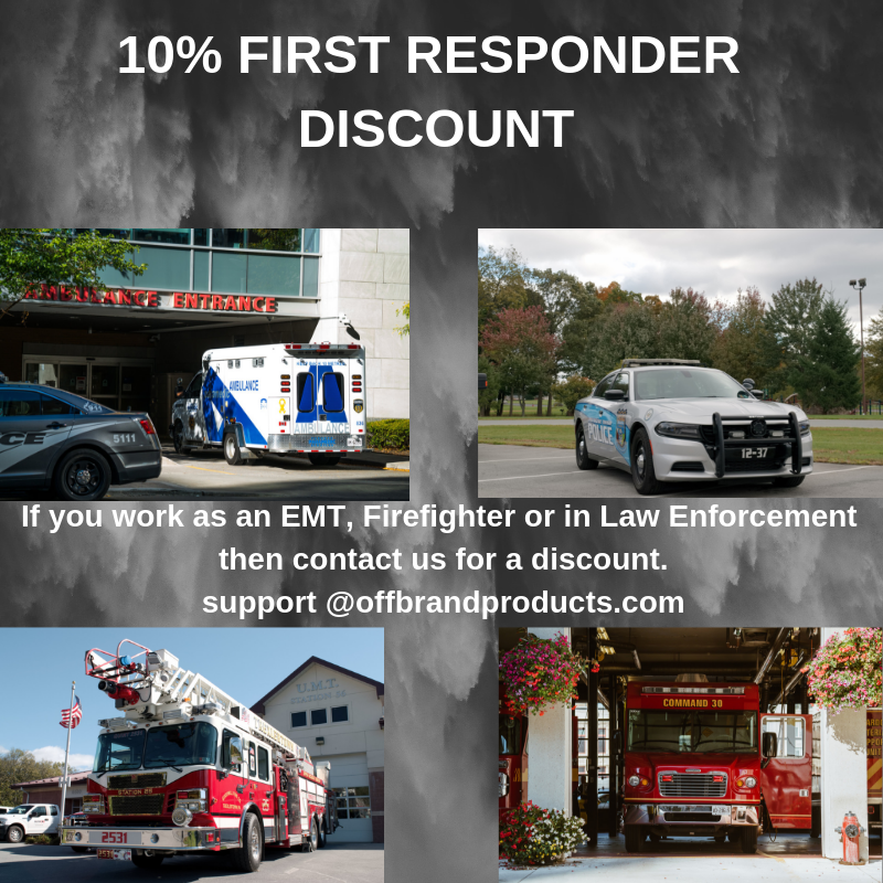 First responder discount firefighter discount EMT discount Police discount law enforcement discount