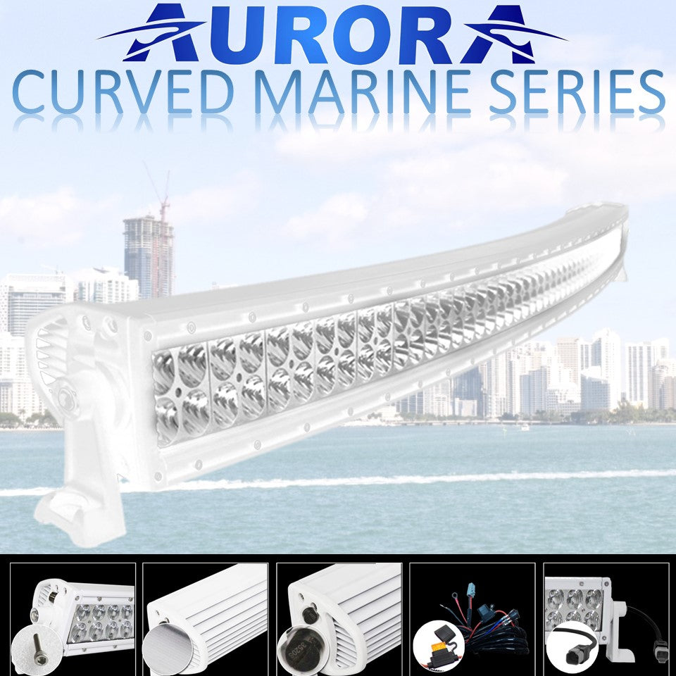 Aurora curved marine white light bars