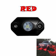 red led light aurora rock light