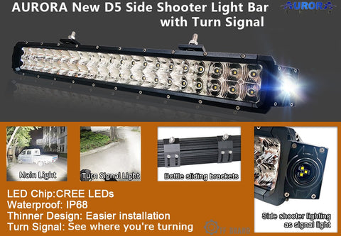 aurora led light bar D5 series side shooter edition