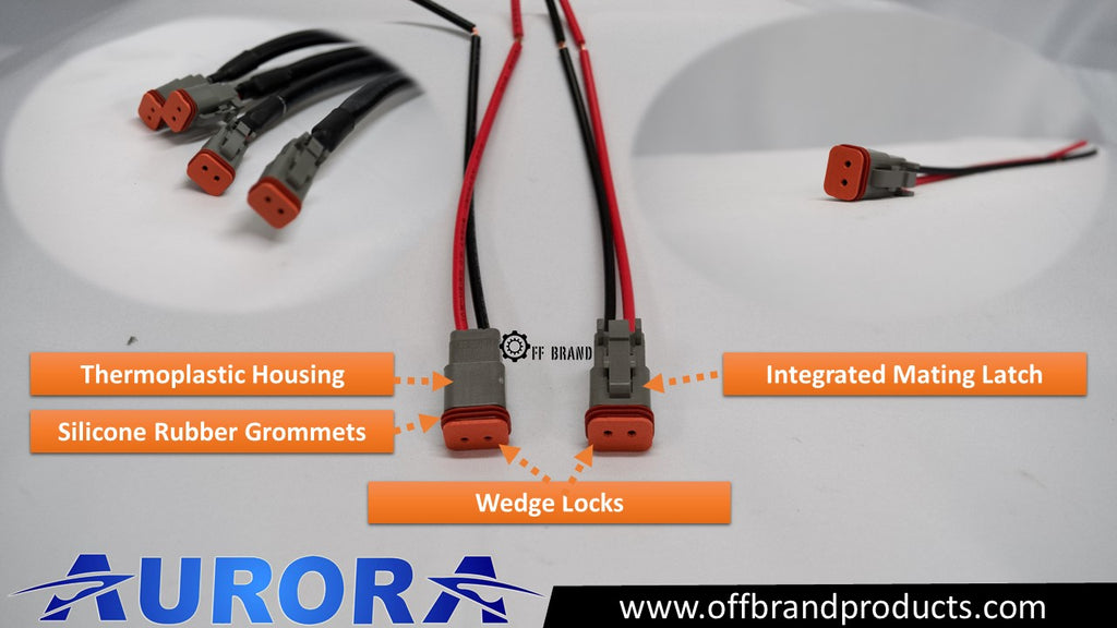 aurora truck led light bar deutsch connectors