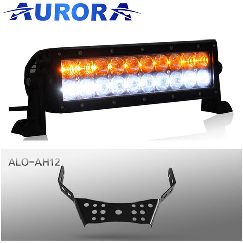 aurora led light bar aw series amber white atv handle bar bracket