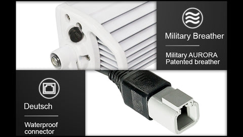 aurora boat led light military breather & DT connector
