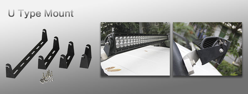 aurora cradle mount led light bar