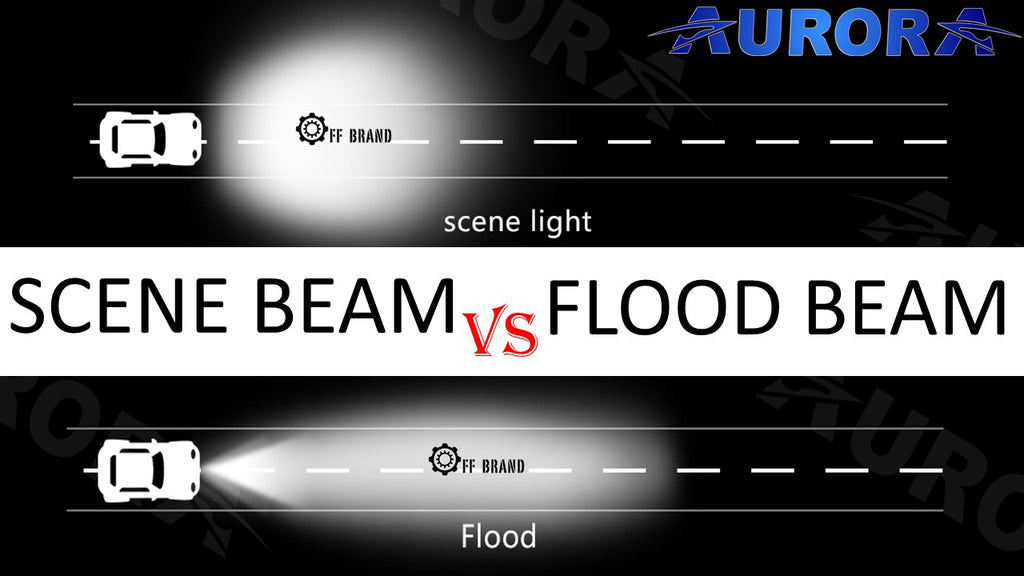 difference between led flood beam pattern and scene beam pattern