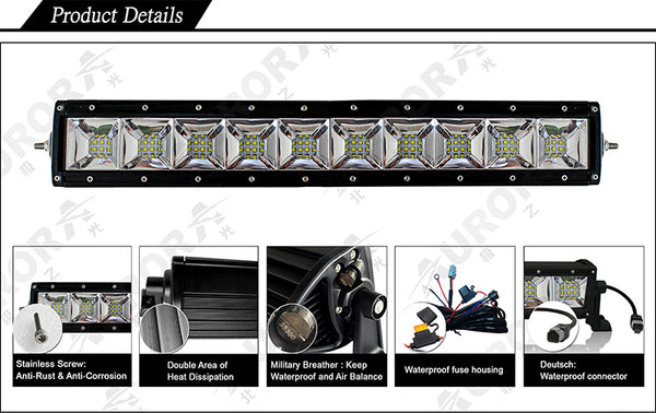 aurora led light bar with scene beam
