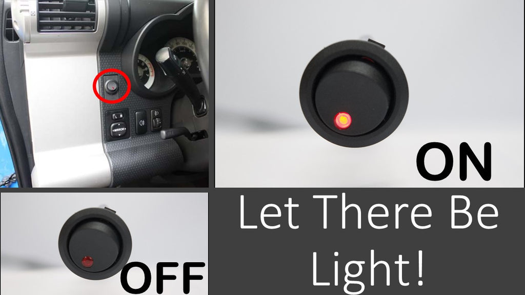 aurora truck led light bar switch