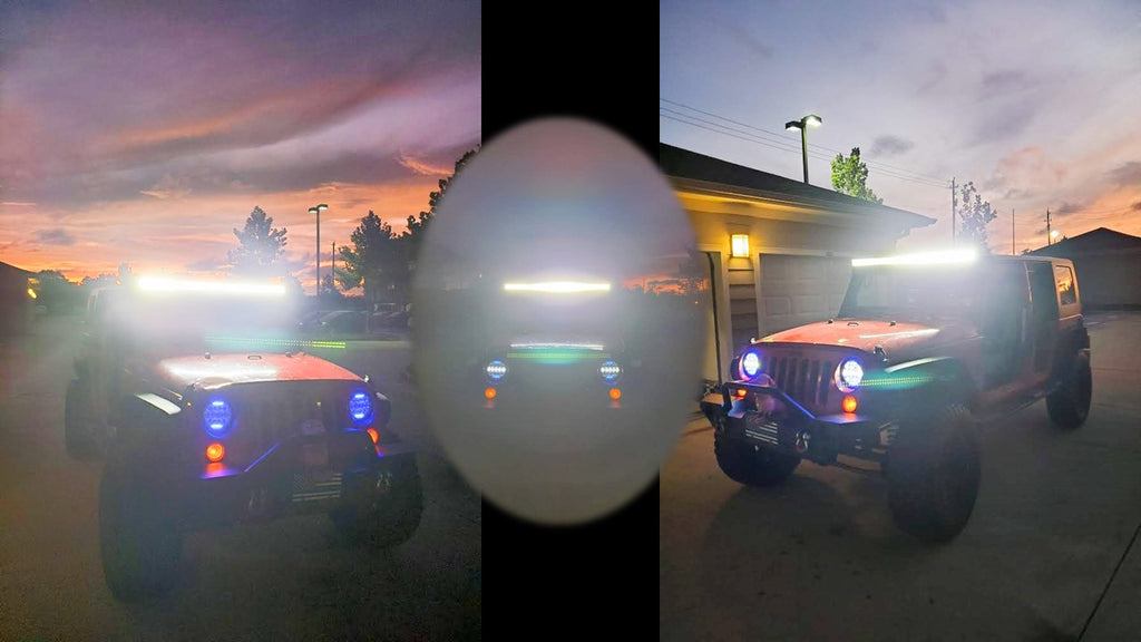 Jeep Wrangler led light bar 50 inch by aurora