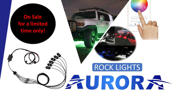 Aurora LED rock light kit
