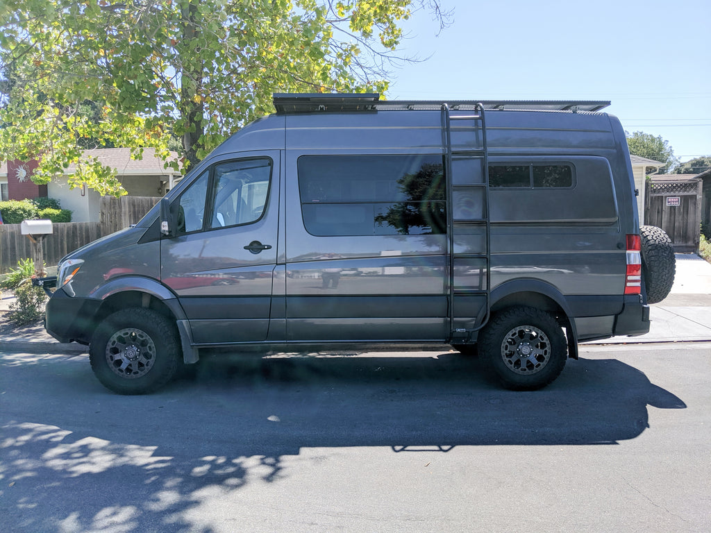 Mercedes sprinter van off road