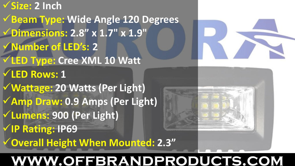 aurora wide angle scene beam led light