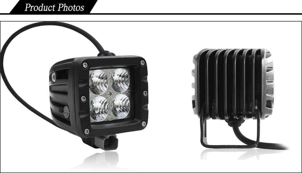 Aurora golf cart 3 inch led lights