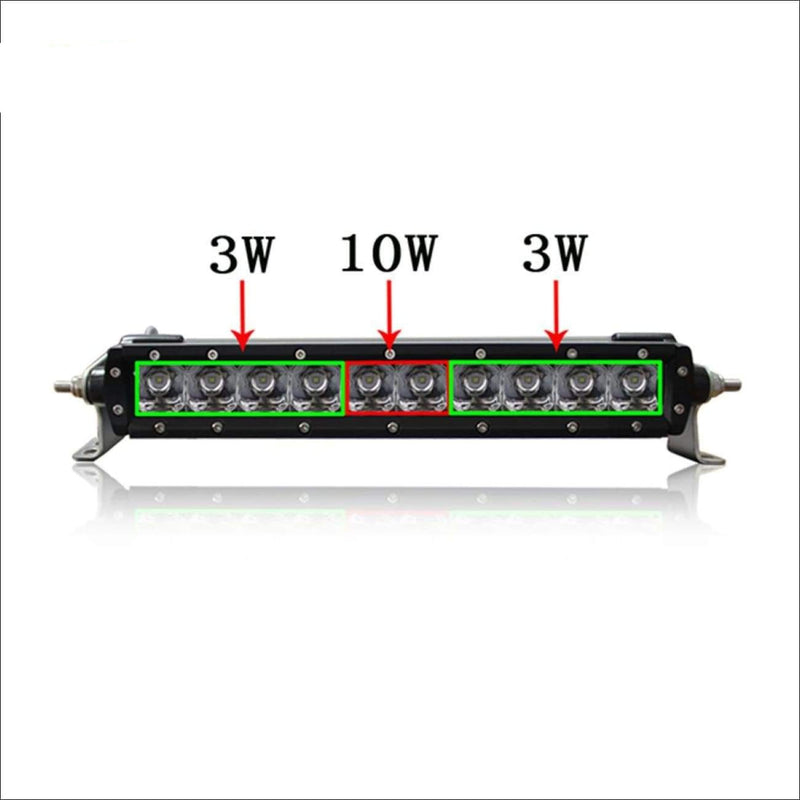 Aurora 10 Inch Single Row LED Light Bar - Hybrid Series 3 852 Lumens - LED Light Bar