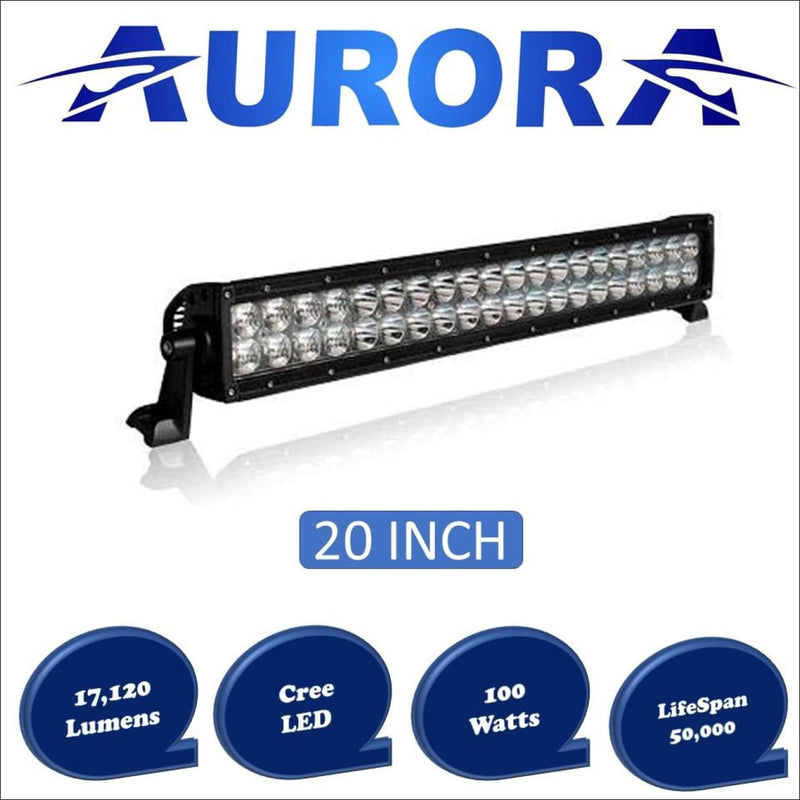 Aurora 20 Inch Dual Row LED Light Bar - 17 120 Lumens - Dual Row LED Light Bar