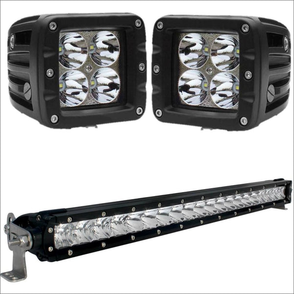 aurora-20-inch-single-row-light-bar-3-inch-pod-lights-bundle.