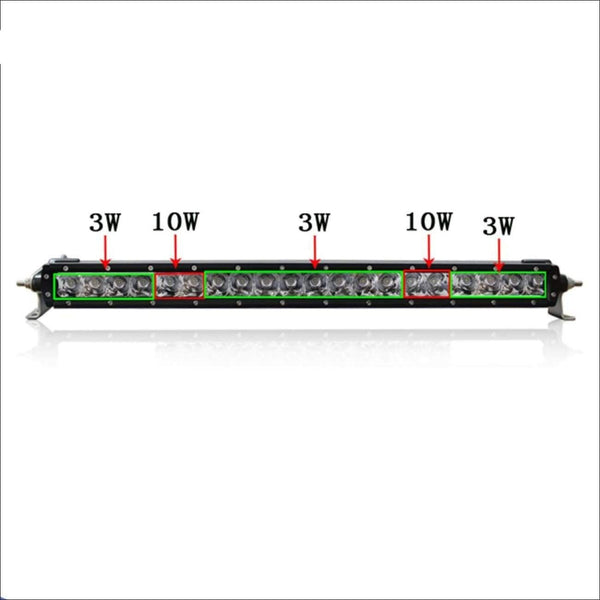 Aurora 20 Inch Single Row LED Light Bar - Hybrid Series 7 704 Lumens - LED Light Bar