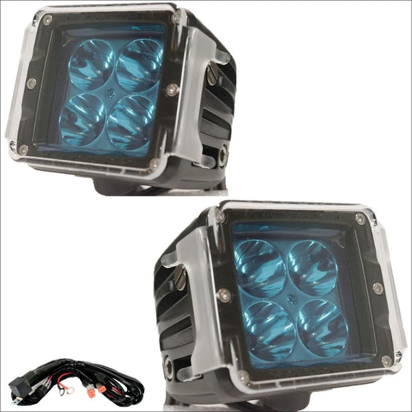 aurora led pod lights 3 inch lights defender series clear pod cover