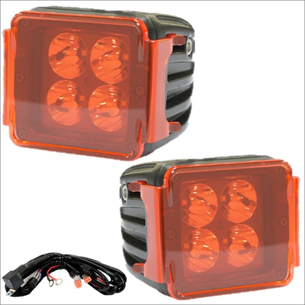 Aurora 3 Inch LED Cubed lights kit - Overcast Edition - 3,880 Lumens - amber led lights