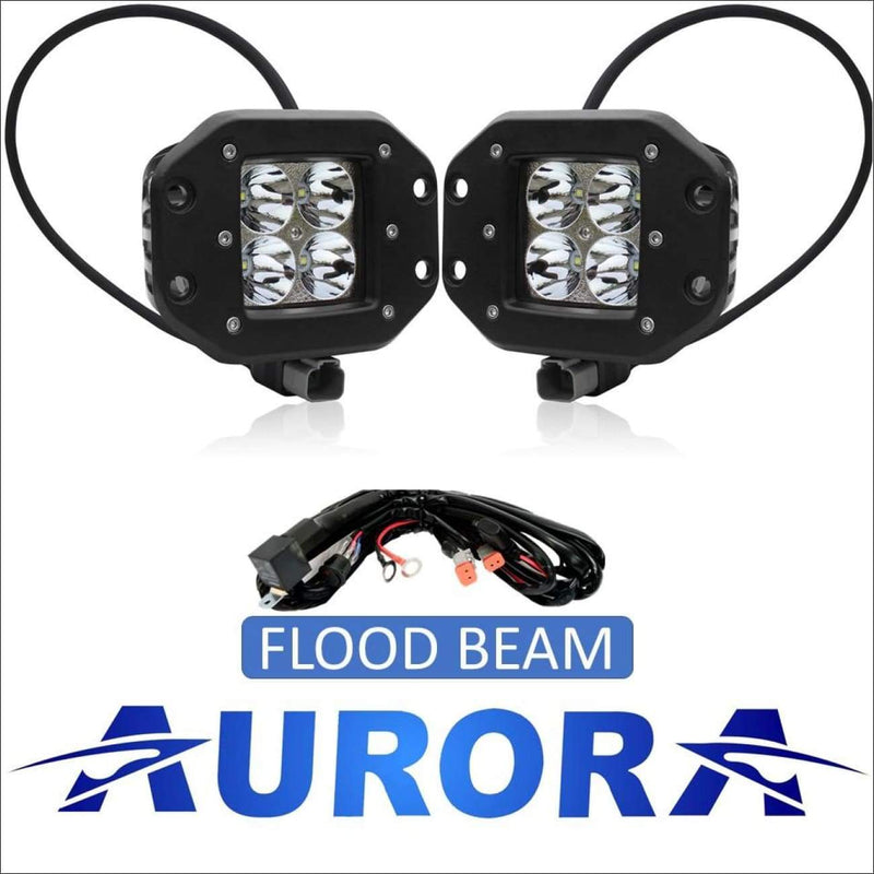 Aurora 3 Inch LED Flush Mount Pod Kit - 3 880 Lumens - Flood - LED Light Pod