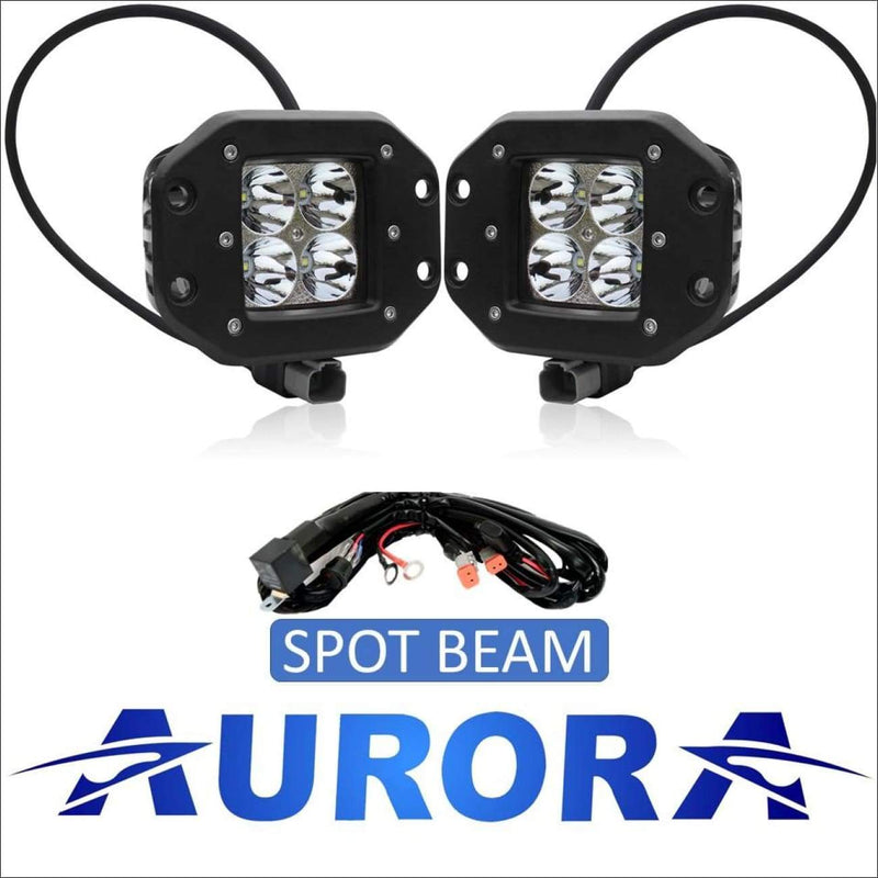 Aurora 3 Inch LED Flush Mount Pod Kit - 3 880 Lumens - Spot - LED Light Pod