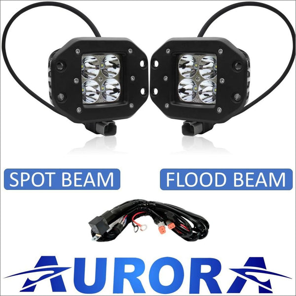 Aurora 3 Inch LED Flush Mount Pod Kit - 3 880 Lumens - LED Light Pod