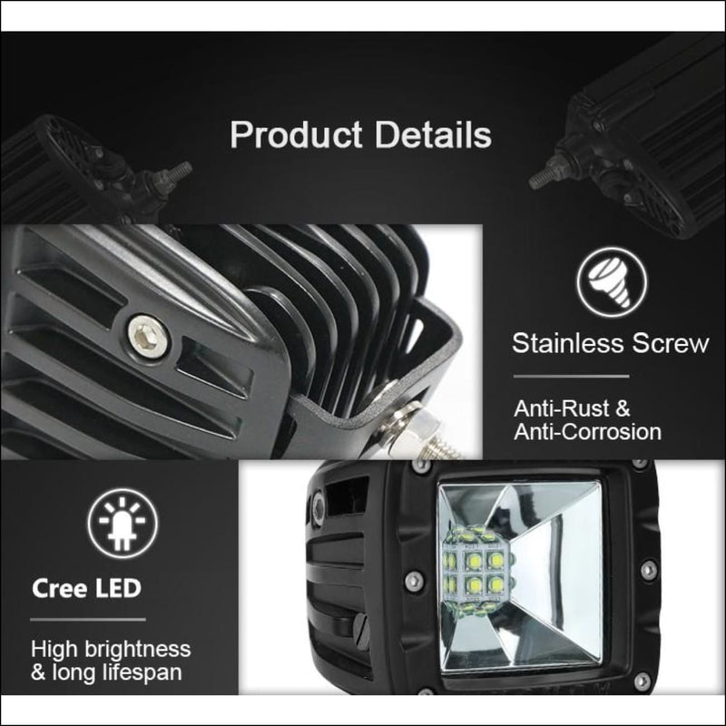 Aurora 3 Inch LED Light Pod W/ Scene light Beam Kit - 3 880 Lumens - LED Light Pod