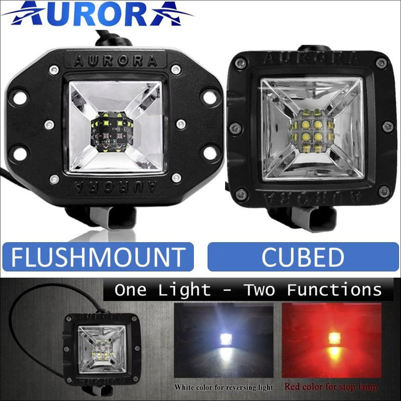 Aurora 3 Inch LED Multi Function LED Light w/ White & Red Light Kit - LED Light Pod